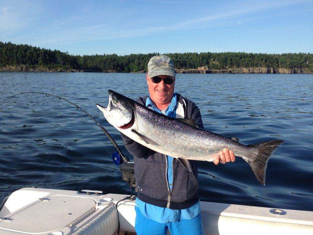 Chinook fishing in the spring season