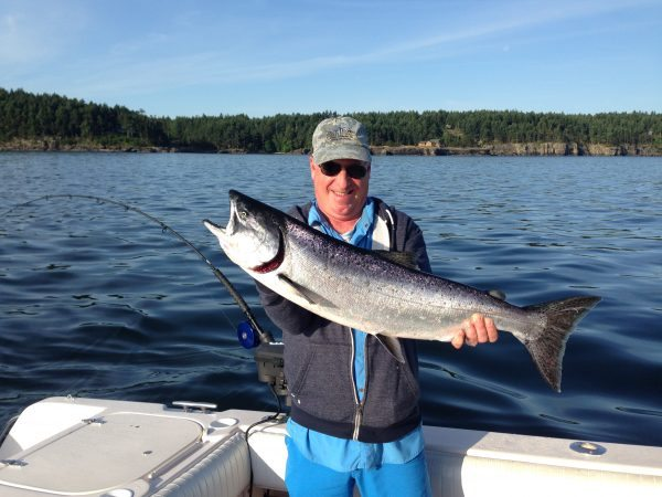 Chinook fishing in the spring season