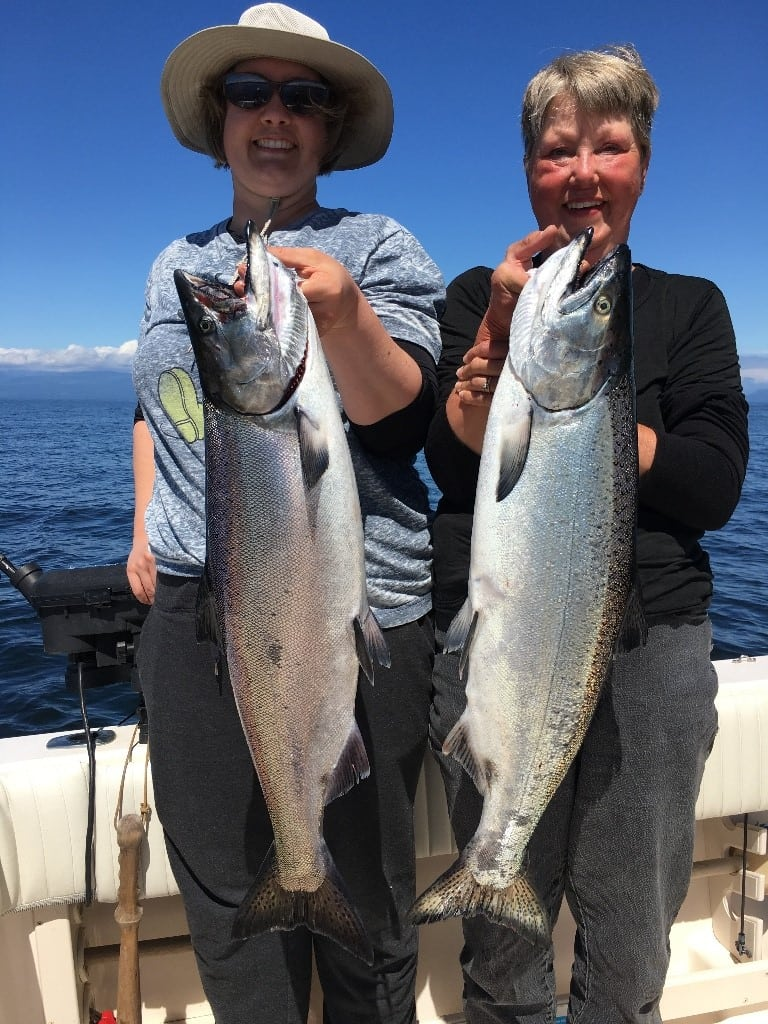 Our salmon fishing guides brought these lucky two to the right spot